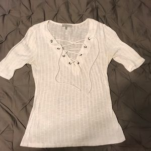 Charlotte Russe Lace-Up Top